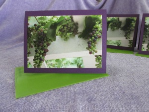 One of my signature cards (Grape Arbor Note Card)